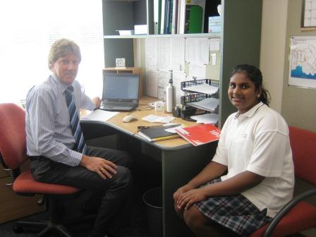 Yr 9 Dean with Isiri Premachandra