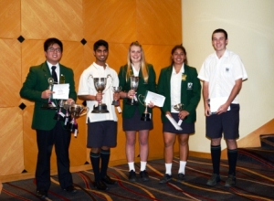 Duxes Johnson Zuang Dux Artium, Akshay Patel and Rebecca Smith Dux Ludorum, Khusboo Patel and Liam van Rijn runners up to Dux Ludorm